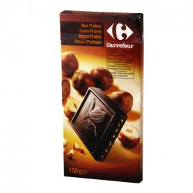 Carrefour tableta chocolate negro praline de 150g.