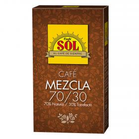 Sol cafe mezcla natural torrefacto cafe de 200g.