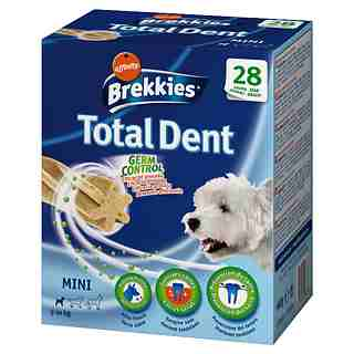 Brekkies snack total dent perros excel mini multipack de 440g.
