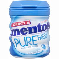 Mentos chicle pure fresh de 60g.