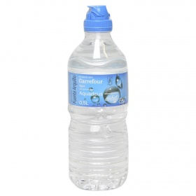 Carrefour agua mineral natural aquadeus de 50cl.