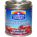 Clemente Jacques chiles chipotles adobados neto escurrido de 105g. en lata