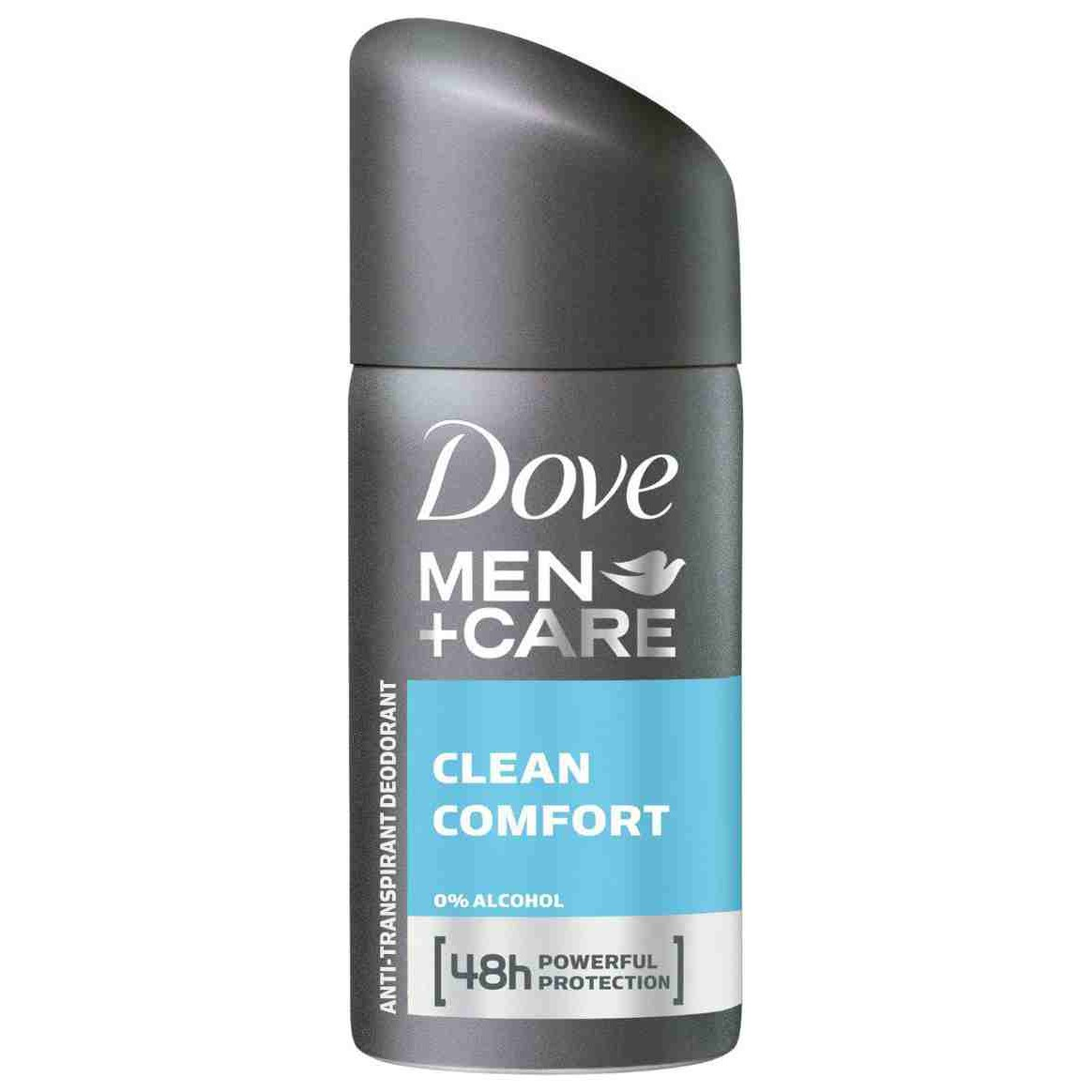Dove desodorante for men clean comfort tamaño viaje de 35ml. en spray
