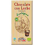 Sole chocolate con leche ecologico tableta de 100g.