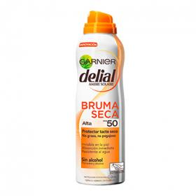 Delial bruma seca protector tacto seco fp 50 invisible en piel absorcion inmediata sin alcohol spray resistente al agua de 20cl.