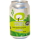 Whole Earth refresco manzana sin azucar ecologico envase de 33cl.