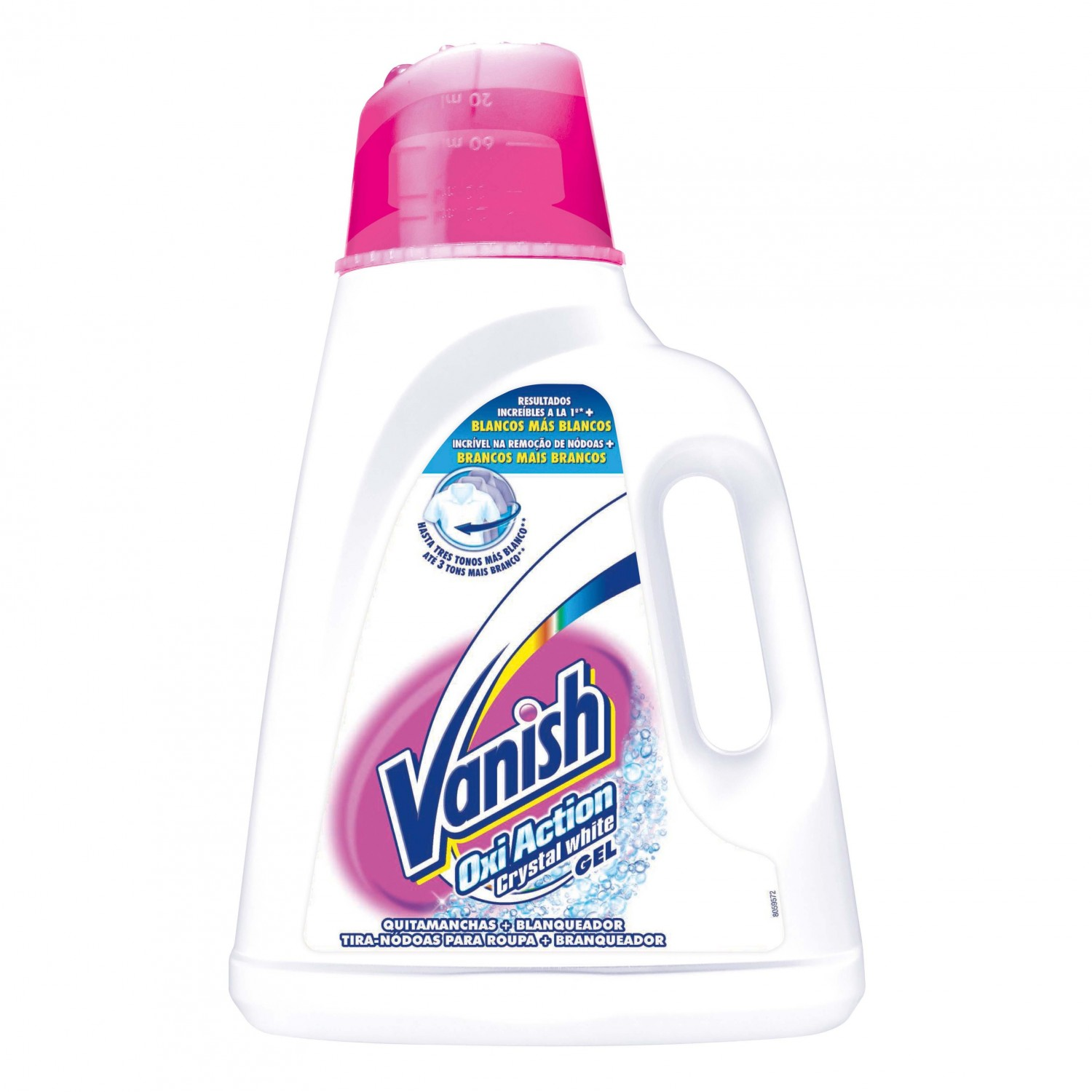 Vanish quitamanchas gel oxi action crystal white de 2l.