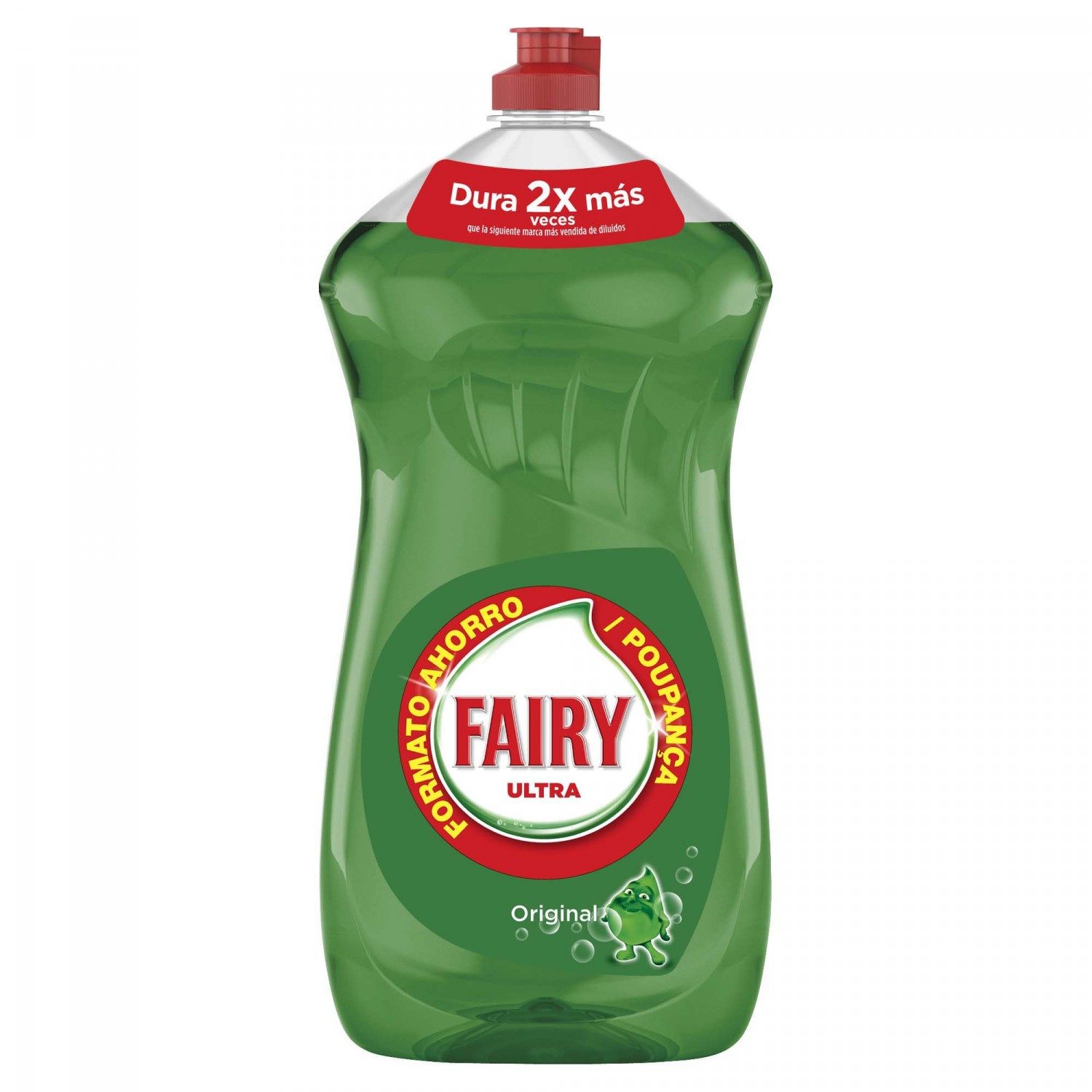 Fairy ultra lavavajillas mano concentrado regular de 1,25l. en botella
