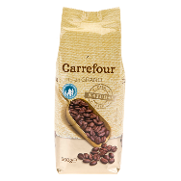 Carrefour cafe en grano natural de 500g.