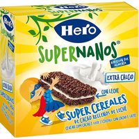 Hero barrita leche chocolate supernanos de 30g. por 4 unidades