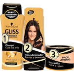 Gliss pack hair repair ultimate oil elixir con champu acondicionador mascarilla de 20cl. en bote