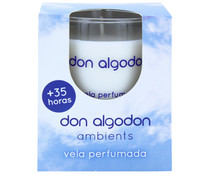 Don Algodon vela cera natural con aroma colonia