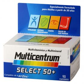 Multicentrum complemento multivitaminico multimineral select 50 90 en comprimidos