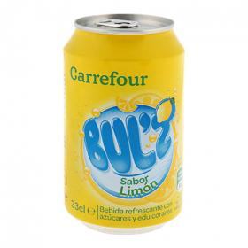Carrefour refresco limon bulz de 33cl.