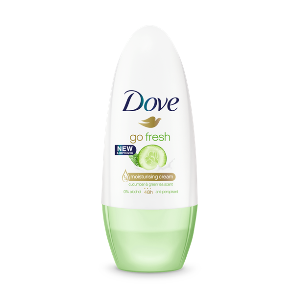 Dove desodorante go fresh con pepino te verde roll on de 50ml.