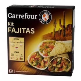 Carrefour fajita dinner kit de 525g.