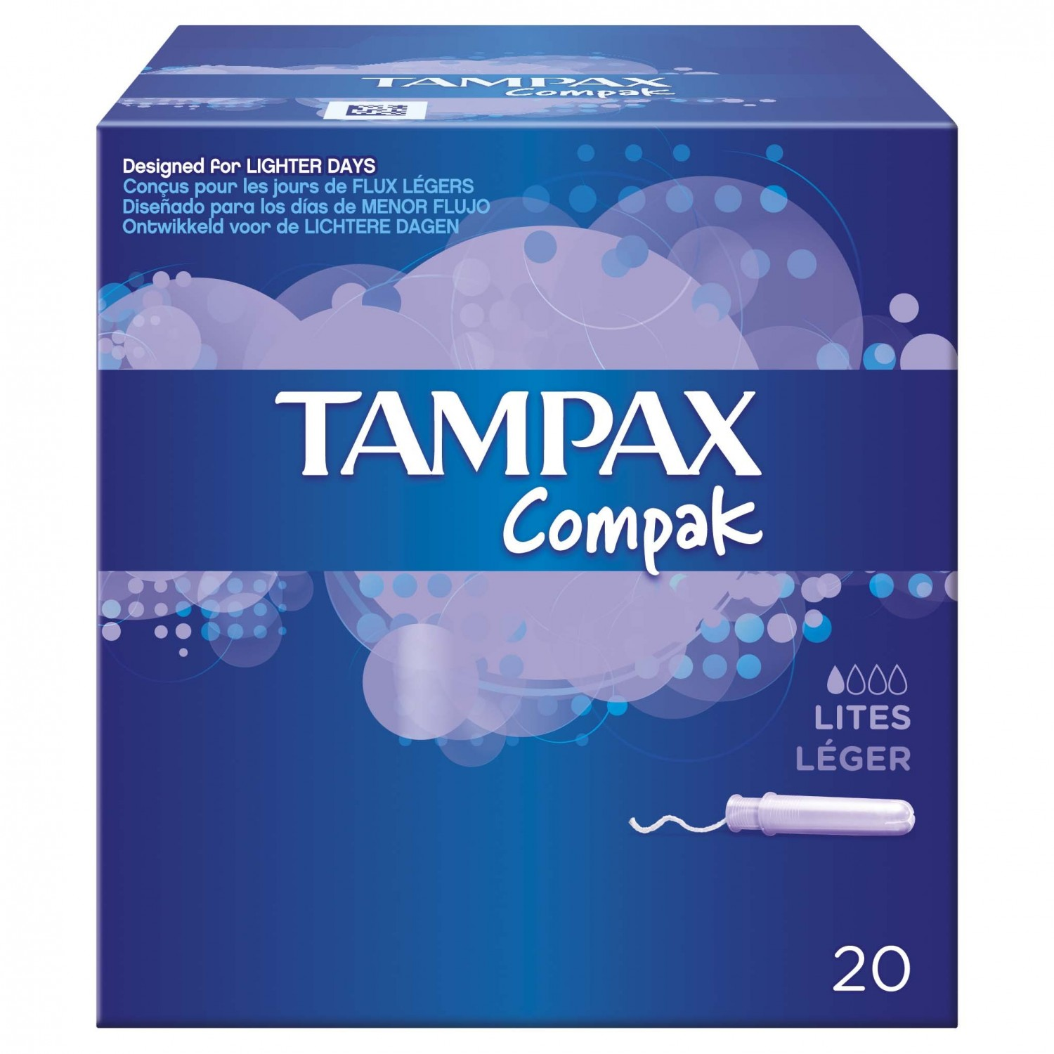 Tampax tampon lite compack 20 en paquete
