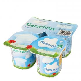 Carrefour yogur natural de 125g. por 4 unidades