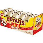 Donuts mini con chocolate blanco de 100g. en paquete