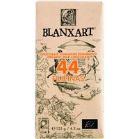 Blanxart chocolate c leche 44% eco filipinas tableta de 110g.