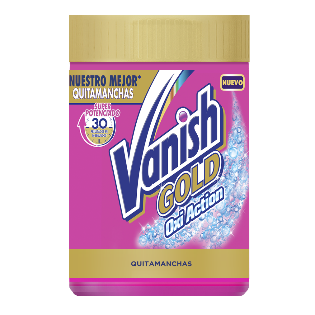 Vanish quitamanchas polvo gold oxiaction de 940g.