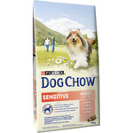 Dog Chow purina sensitive alimento completo perro adulto con salmon envase de 14kg.