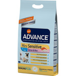 Advance mini sensitive alimento alta gama perros raza mini con digestion sensible con salmon envase de 3kg.