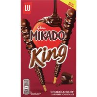 Mikado king chocolate negro lu de 51g.