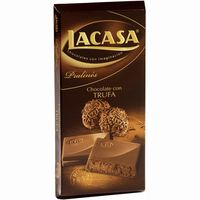 Lacasa chocolate trufa tableta de 150g.