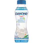 Danone yogur liquido natural azucarado 100% ingredientes origen animal de 280g. en botella