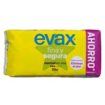 Evax compresa absorcion normal plegada sin alas fina segura 20