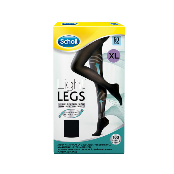 Scholl medias compresion 60 den xl color negro