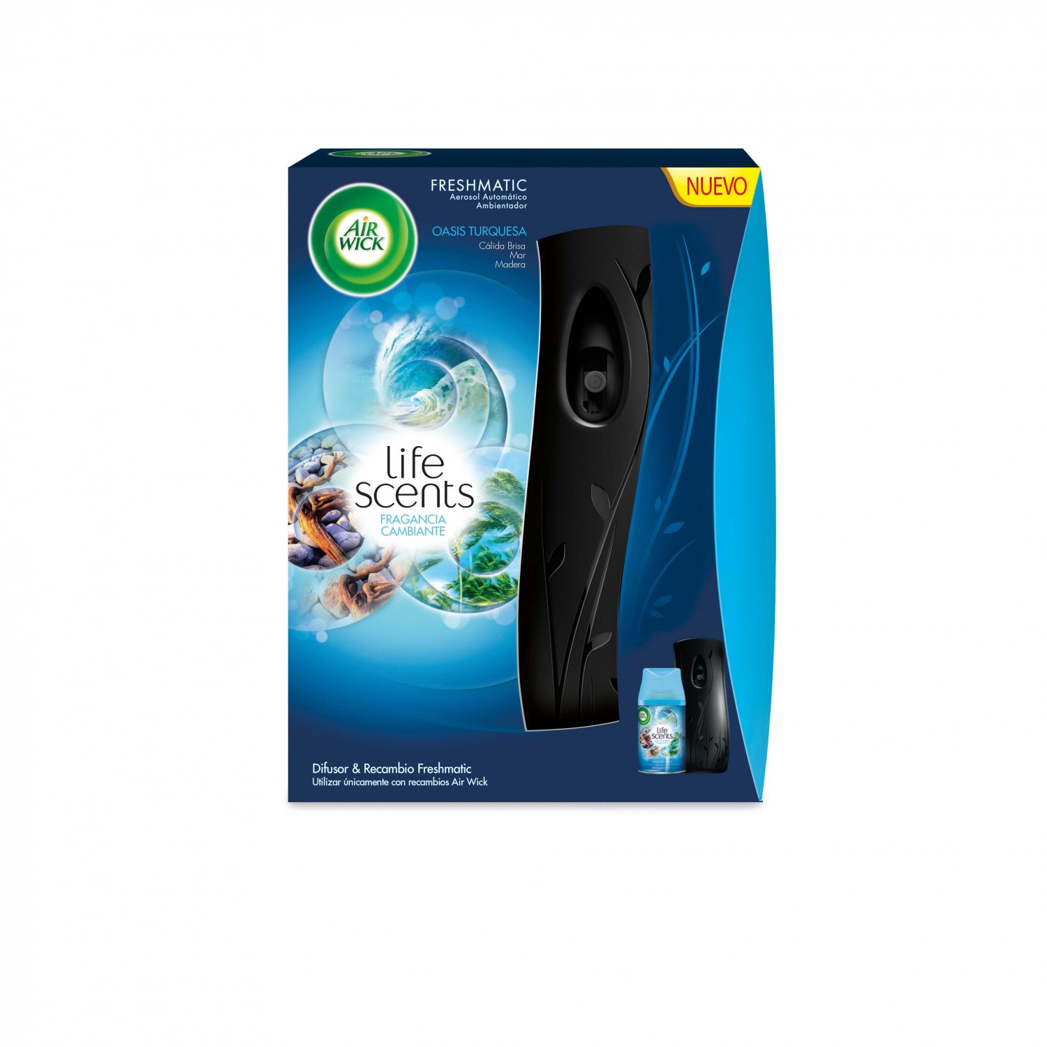 Air Wick ambientador fresh matic life scents oasis de 25cl.