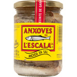 Lescala anxoves filetes anchoa en salazon neto escurrido de 365g. en bote