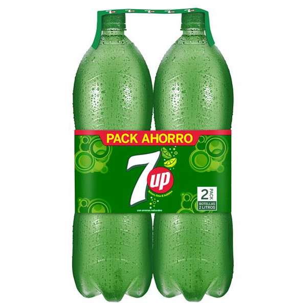 7up lima refresco lima limon de 2l. por 2 unidades en botella