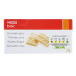 Eroski Basic chocolate blanco tableta de 75g.