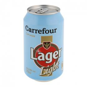 Carrefour cerveza light de 33cl.