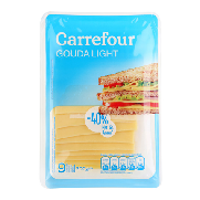 Carrefour queso en lonchas gouda light de 200g.