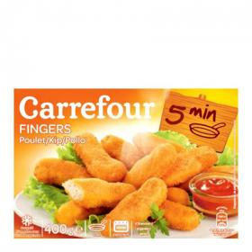 Carrefour fingers pollo de 420g.