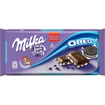 Milka chocolate con leche relleno galletas oreo tableta de 100g.