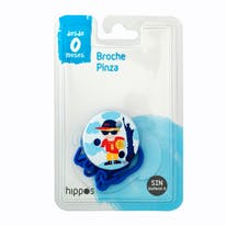Disney broche pinza chupete color azul hippo