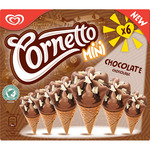 Cornetto mini conos chocolate con trocitos chocolate blanco de 60ml. por 6 unidades