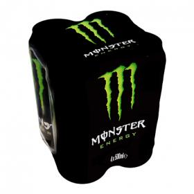 Monster refresco energy green de 50cl. por 4 unidades