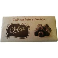 Orbea chocolate con leche bombon cafe tableta de 125g.