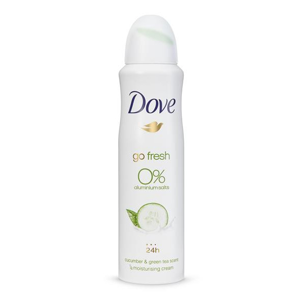 Dove go fresh cucumber 0% 150ml de 15cl.
