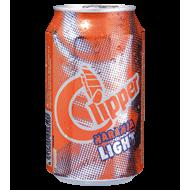 Clipper refresco naranja light de 33cl. en lata