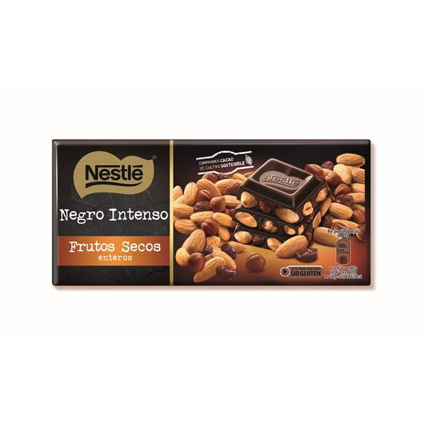 Nestlé chocolate negro con frutos secos tableta de 200g.