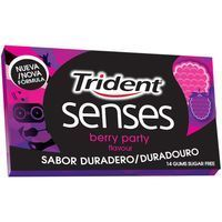 Trident chicles berry party senses de 27g.