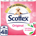 Scottex papel higienico normal 48 rollos en paquete