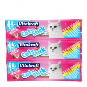 Vitakraft cat stick mini snacks salmon gatos envase por 3 unidades